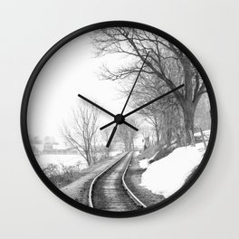 Down the line Wall Clock
