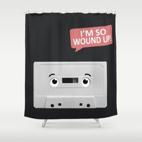 cassette Shower Curtains featuring Cassette by Dylan Morang