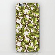 Fresh summer leaves iPhone & iPod Skin