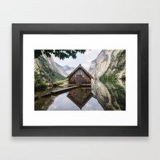Famous cabin  Framed Art Print