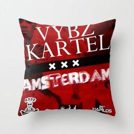 Vybz Kartel - Amsterdam EP Throw Pillow