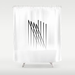 """ Eclipse Collection"" - Minimal Letter N Print Shower Curtain"