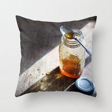 Sunlight and Honey - Kitchen Food Art Throw Pillow