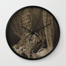 Vintage Sea Sponges Wall Clock