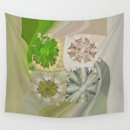 Grasshouse Configuration Flower  ID:16165-050526-69250 Wall Tapestry