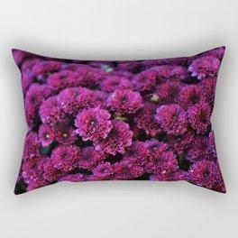 Burgundy Mums Rectangular Pillow