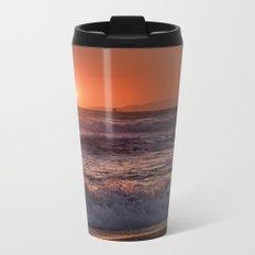 Beautiful Waves At Sunset. Metal Travel Mug