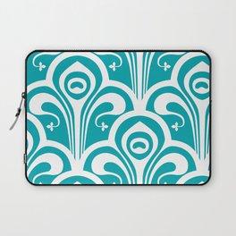 Turquoise Jugend Stil Laptop Sleeve
