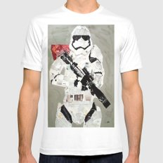 FIRST ORDER STORM TROOPER White Mens Fitted Tee MEDIUM