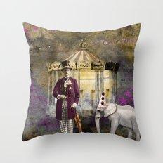 Circus king  Throw Pillow