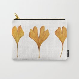 Three Ginkgo Leaves Carry-All Pouch