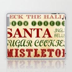 Subway Style Christmas Words Laptop & iPad Skin