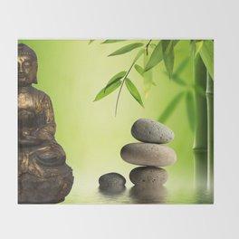 Spiritual calm Throw Blanket