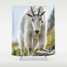 The Ups and Downs of Being a Mountain Goat No. 3 Shower Curtain