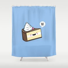 Eat Me! - Wonderland Kawaii Cake Shower Curtain