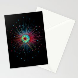 Neon Explosion Stationery Cards