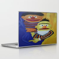 sesame street Laptop & iPad Skins featuring Sesame Street Bert and Ernie by ArtSchool