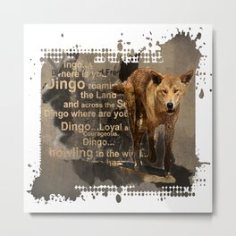 DINGO IN THE WILD Metal Print