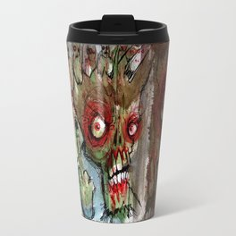 zombie flips the bird Travel Mug