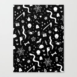SPOOKY HALLOWEEN! - PATTERN Canvas Print