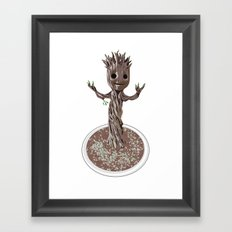Baby Groot Framed Art Print