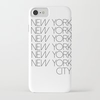 new york city iPhone & iPod Cases featuring New York New York City by Stylish in Sequins