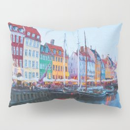 The Quay at Nyhavn, Copenhagen, Denmark Pillow Sham