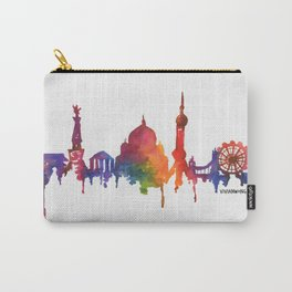 Rainbow Watercolour Monuments Carry-All Pouch