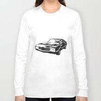 muscle Long Sleeve T-shirts featuring Muscle Car by mothermary