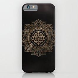 Sri Yantra  / Sri Chakra in golden lotus iPhone Case