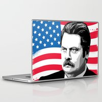 ron swanson Laptop & iPad Skins featuring RON SWANSON Quote#5 by Michelle Eatough
