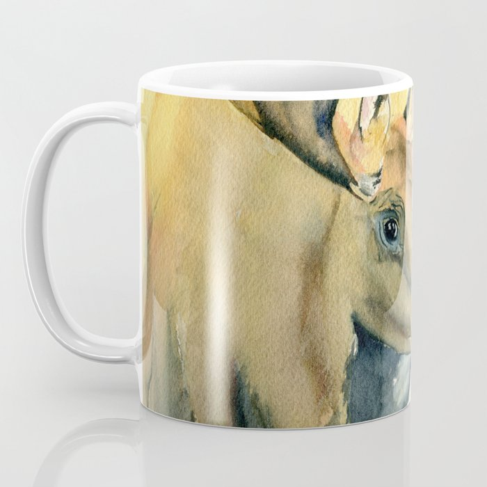 Moose Watercolor Coffee Mug