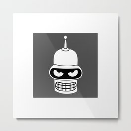 Bend the knee - Mr. Bender Rodríguez Metal Print