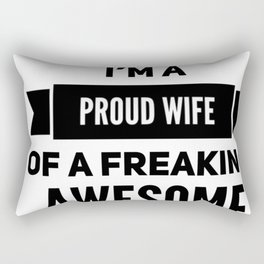 Wife,husband funny tshirt gift idea Rectangular Pillow