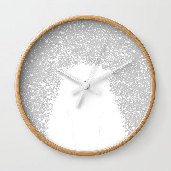 Its A Polar Bear Blinking In A Blizzard Wall Clock