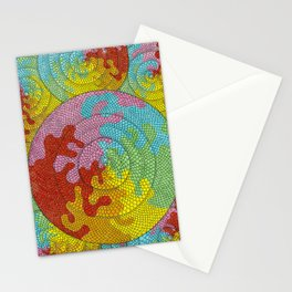 Psychedelic scales Stationery Cards