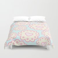 cookies Duvet Covers featuring Cutie Cookies by Candy Castle