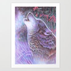 Howling Art Print