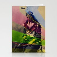 native american Stationery Cards featuring Native American by Owen Addicott