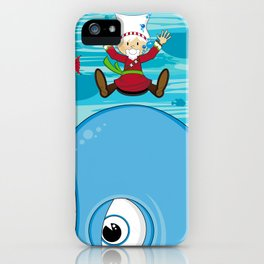 Cute Jonah and the Whale iPhone Case