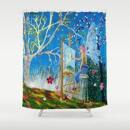 Fairy Artist Shower Curtain