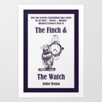 Finch & Watch Art Print