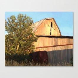 Old barn in Vickery, Ohio Canvas Print