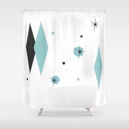 Vintage 1950s Mid Century Modern Design Shower Curtain