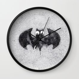 Cute Bat Baby Wall Clock