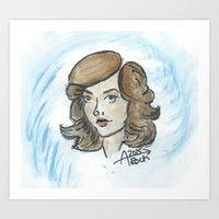 peggy carter Art Prints featuring Peggy Carter by Ash AROUH