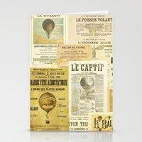 ballon Stationery Cards featuring Le Ballon by Ephemera's Vintage Garden
