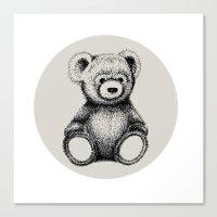 teddy bear Canvas Prints featuring Teddy Bear by Nicole Cioffe