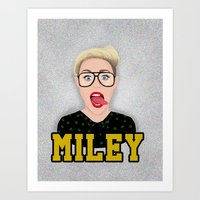 miley cyrus Art Prints featuring Miley Cyrus by Jessica Guetta