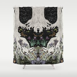 Starry Forest Shower Curtain